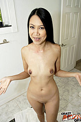 Tala Basi Standing Naked Cum Over Her Tits Shaved Pussy