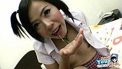 Gibsey Spitting Cum Onto Her Open Hand