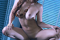Shaved Babe Rita Wong Strips Dress And Plays With Dildo