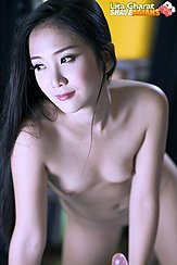 Naked Looking To Side Long Hair Small Breasts