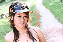 Breasty Teen Jean Prada Stripping While Out On Bike Ride