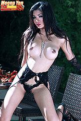 Topless Wearing Black Panties