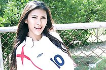 Beauty Chelsea Strips Football Shirt And Spreads Her Legs