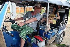 Sitting In Back Of Tuktuk